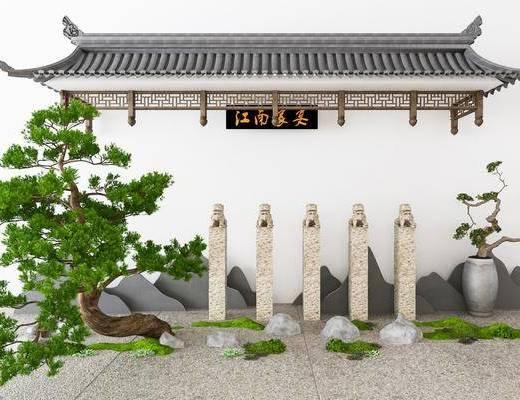 中式景观, 园林景观, 园艺小品