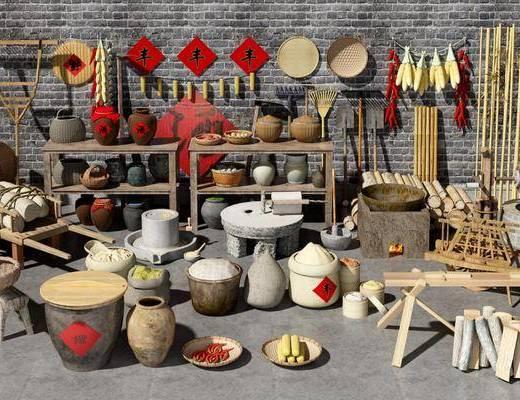 中式农具, 中式农家乐用品