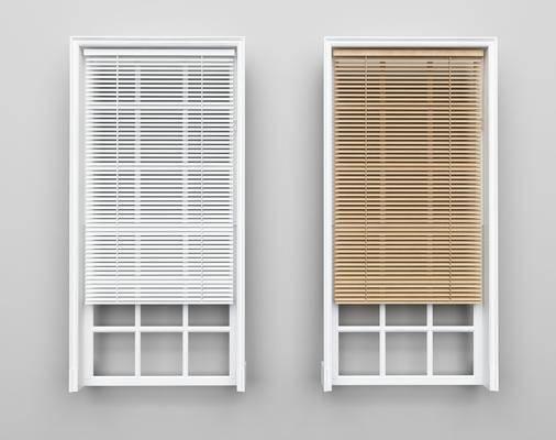 百叶窗, 窗帘组合, 现代