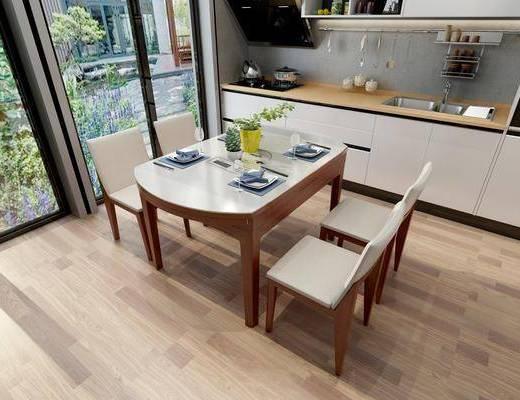 餐桌, 桌椅组合, 餐厅