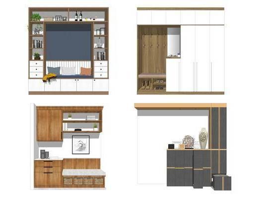 装饰柜, 玄关柜, 鞋柜, 柜架组合
