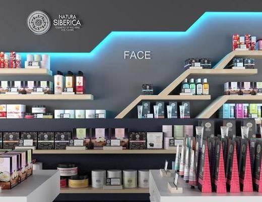 化妆品, 柜架组合