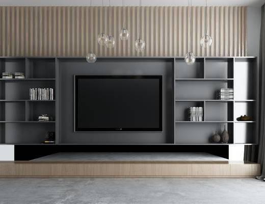 现代电视柜, 电视背景墙