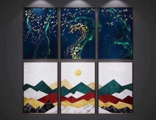现代挂画, 挂画, 装饰画