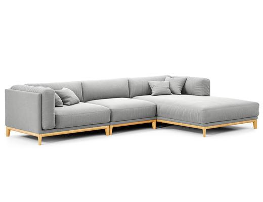 现代简约, 浅灰色, 沙发, 现代沙发, 多人沙发, corona