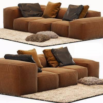 多人沙发, 双人沙发, 现代