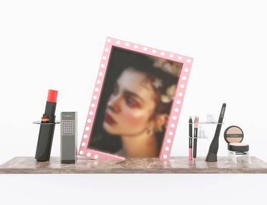 化妆品, 美妆店, 橱窗道具