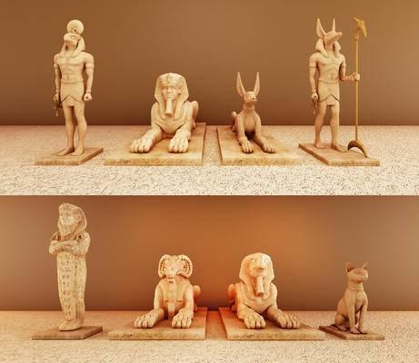 埃及雕塑, 陈设品