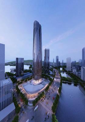 现代建筑, 现代, 建筑, 树, 鸟瞰, 规划