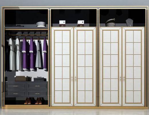 移门衣柜, 衣柜, 服饰, 欧式