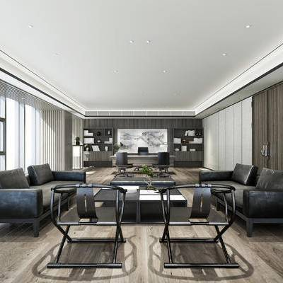 客厅, 后现代, 后现代客厅, 沙发, 椅子, 书桌椅, 办公室, 沙发组合