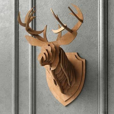 鹿头挂件, 艺术品, 现代