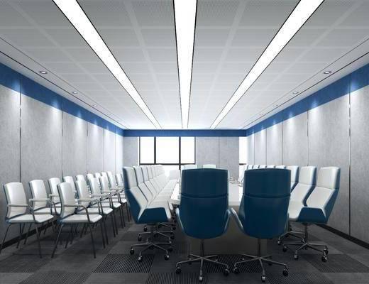 会议室, 单人椅, 桌子, 椅子, 现代简约