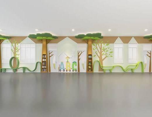 幼儿园过道, 走廊