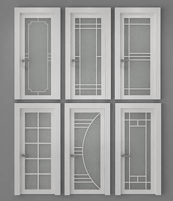 现代, 平开门, 玻璃门, 卫生间, 单件