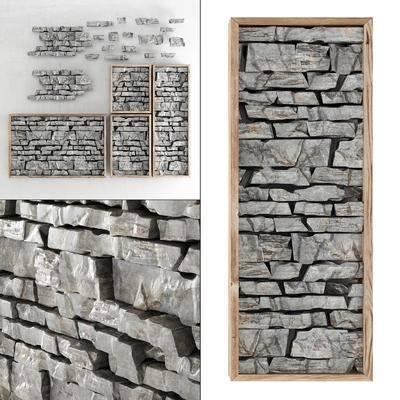 墙饰, 石头墙饰, 现代石头墙饰