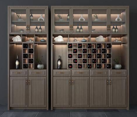 酒柜, 柜架組合, 置物柜, 酒架