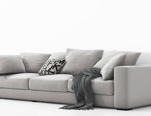 现代, 简约, 多人沙发, 沙发