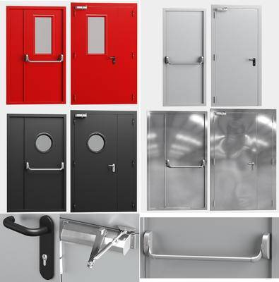 消防门, 铁门, 门