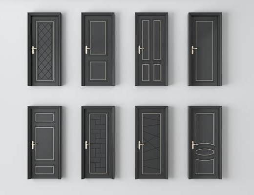平开门, 房门组合, 烤漆门, 欧式
