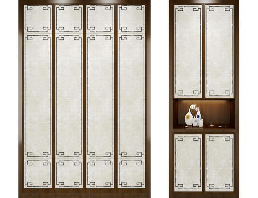 中式衣柜, 衣柜, 新中式, 鞋柜
