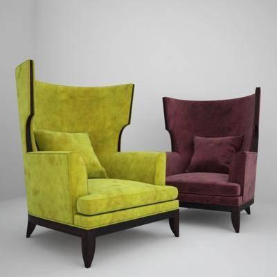 现代休闲沙发休闲椅, 现代, 休闲沙发, 单人沙发, 沙发, 布艺沙发