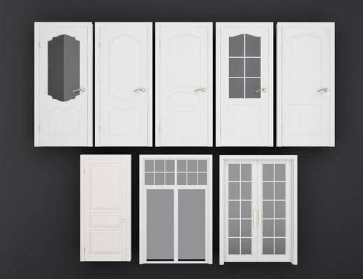房间门组合, 平开门组合, 现代