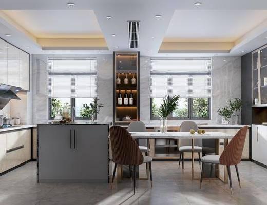 現代廚房, 廚房, 櫥柜
