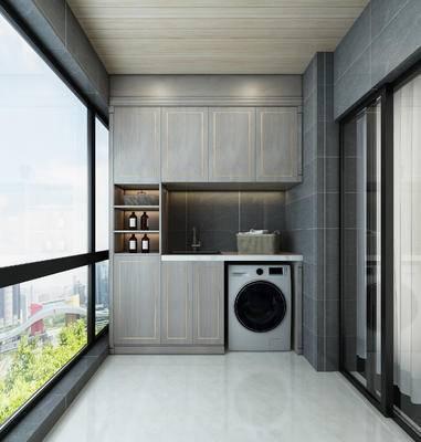 现代, 家装, 阳台