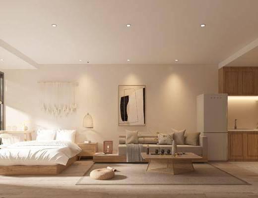 自然风, 民宿, 客房, 家装