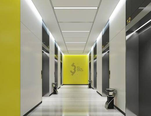 电梯厅, 走廊过道, 墙饰