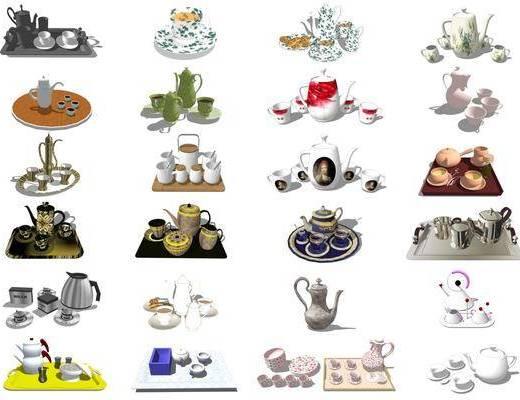 茶具, 茶盘, 不锈钢水壶, 水杯