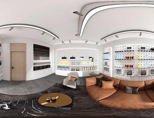 展柜, 产品柜, 沙发组合, 茶几, 单椅