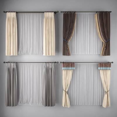 窗帘, 帘, 布艺窗帘
