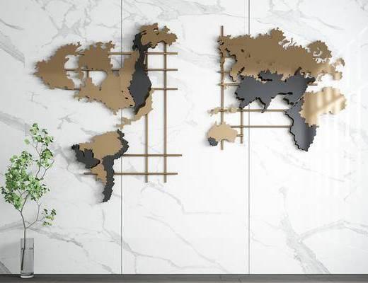 现代, 墙饰, 挂件, 饰品