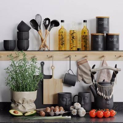 现代, 厨具, 摆件