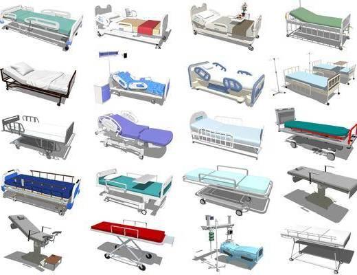 现代, 病床, 医疗床, 医疗椅
