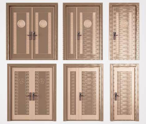 子母门, 双开门, 密码门, 大门