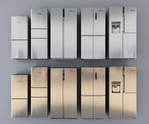 冰箱, 智能冰箱, 现代冰箱, 三门冰箱, 家电