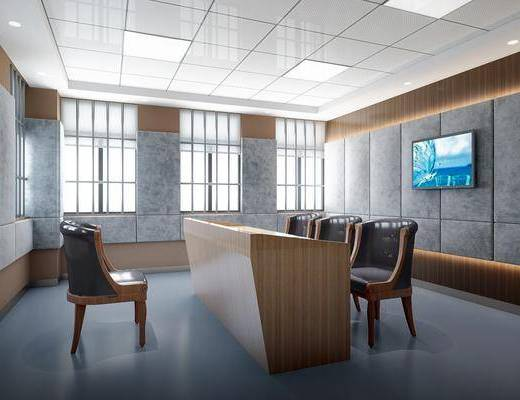 审讯室, 桌子, 单人椅, 现代