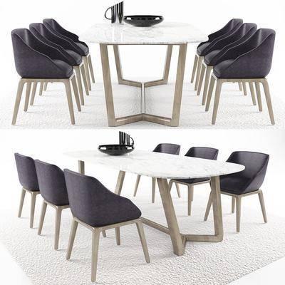 餐桌, 餐椅, 桌椅组合, 地毯, 水壶, 装饰物, 现代