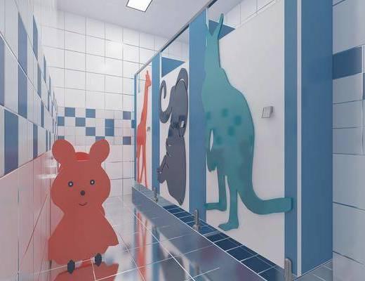 卫生间, 卫浴, 洗手盆, 镜子