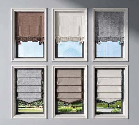 现代窗帘遮光帘