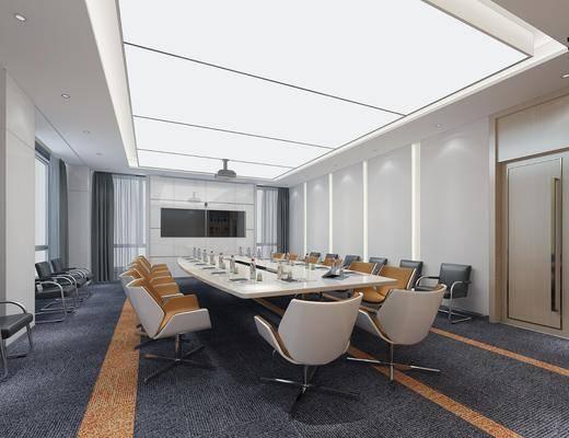 会议室, 桌椅组合, 单椅, 投影仪