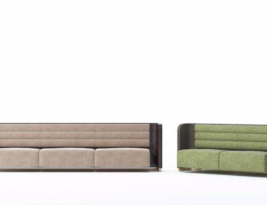 多人沙发, 双人沙发, 现代沙发, 布艺, 现代