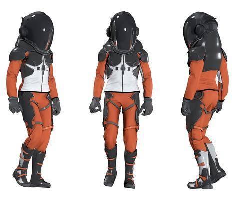 后现代男人, 宇航员, 宇航服, 太空服