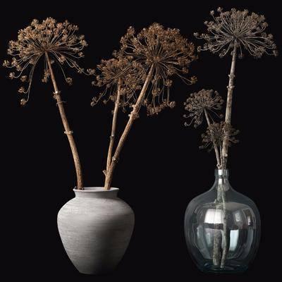 花瓶花卉, 现代花瓶花卉, 干花