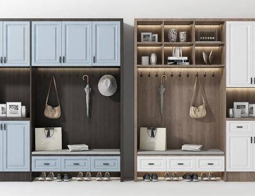 鞋柜, 置物柜, 衣柜, 柜架组合