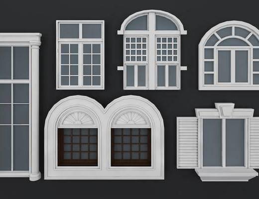 窗户, 窗台组合, 欧式