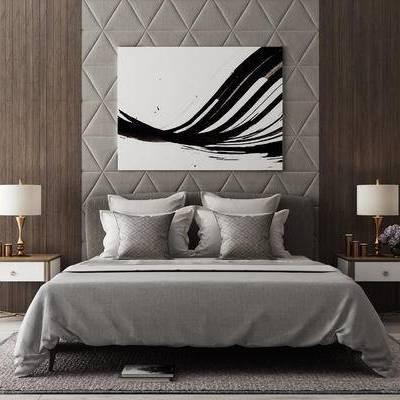 现代, 床, 组合床, 现代床